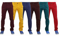 Mens Chinos Trousers Slim Fit Jeans Cotton Staright Leg Casual Pants Size 30-40