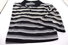 Mens Nike Golf Polo Shirt Black White Silver Standard Fit 2XL Style 818048