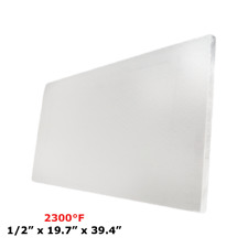"1/2"" Refractory Ceramic Fiber Insulation Board 2300F 19.7"" X 39.4"""