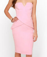 Ladies Designer Finders Keepers In between Days Strapless Dress, Pink, size 8
