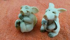 More details for a pair of piggin pig ornaments  relax and good luck