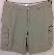 Columbia Men's Cargo Shorts Size 36 Khaki Cotton ~
