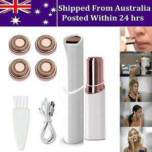 Women Finishing Touch Painless Face Facial Hair Remover with 4 Heads Aus