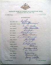 AUSTRALIA TO ENGLAND 1968 – OFFICIAL AUTOGRAPH SHEET