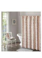 "Intelligent Design Raina Printed Metallic Shower Curtain Blush & Gold 72"" x 72"""