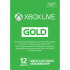 Microsoft Xbox LIVE 1 YR/12 Month Gold Membership Card for Xbox 360 / XBOX ONE