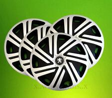 "Alloy wheels look 14"" wheel trims hubcaps to fit Peugeot 106,107,206,306,Partner"