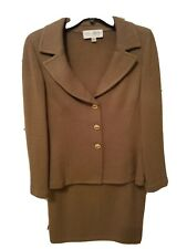 St John skirt suit size 8 brown.Jacket worn twice Skirt new with tag.