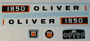 1850 OLIVER Pedal Tractor DECAL SET Ertl Toy FREE Ship Computer Cut