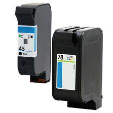 2PKs HP 45 78 Ink Cartridge For Officejet G55 G55xi G85 G95 K60 K80 K80xi