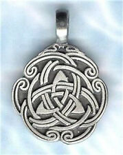 CELTIC TRIQUETRA TRINITY PENDANT STAINLESS STEEL BALL CHAIN NECKLACE - UNISEX