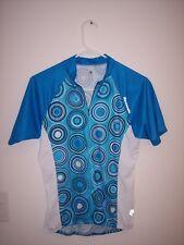 Descente Womens Cycling Genesis Short Sleeve Jersey Large L Caribbean Blu/Marine