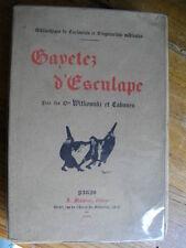 GAYETEZ  ( GAIETES ) D'ESCULAPE MEDECINE HUMOUR CABANES 1909 GRAVURES