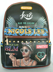 """BLM NICOLE LEE """"LATOYA LOVES WHO SHE IS"""" Large Backpack w USB Charging Port"""