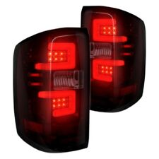 Recon 264238RBK Black Red/Smoke Fiber Optic LED Tail Lights for 14-17 Silverado