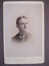 Vintage Cabinet Card Photo Victorian Man by L. V. Newell & Co. Portsmouth, N.H.