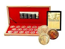 Roman Empire: 20 Emperors Bronze Coin Collection with Box,Highest Quality Set