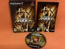 Tomb Raider Anniversary Playstation 2 Ps2 Black Label Game Complete!