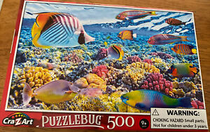 Brand New Puzzlebug 500 Piece Jigsaw Puzzles - Tropical Fish Unopened In Box