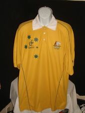 Wallabies Australia Union Embroidered S/S Rugby Polo Shirt Mens 2XL