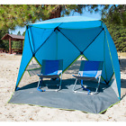 Portable Pop Up Shelter (Shade, Tent, Canopy) for Beach, Outdoors, and Camping
