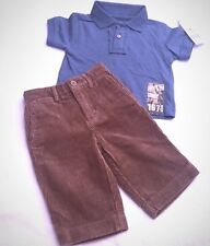 NWT Boy's Designer Bundle Pants Polo Size 9-12 Months