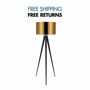 Romanza Tripod Floor Lamp with Gold Shade by Versanora