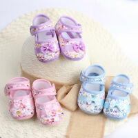 Baby Girls Soft Sole Bowknot Cotton Fabric Anti-slip Casual Crib Shoes Toddler