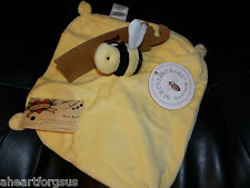 BURT'S BEE SECURITY BLANKET YELLOW 100% ORGANIC COTTON VELOUR NEW BOY GIRL SOFT