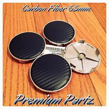 65mm Carbon Fiber Center Cap Hubs Custom Universal Black Carbon Fiber 4PC Set