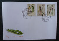 2016 LUXEMBOURG VEGIES OF YESTERYEAR SET OF 3 STAMPS FDC FIRST DAY COVER