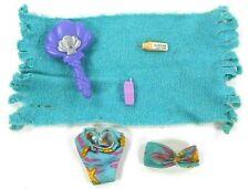 Vintage Barbie & Friends Fitting Swimsuit Towel Shell Brush Suntan Lotion Phone