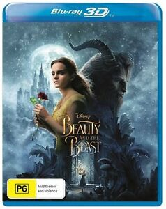 Beauty And The Beast 3D Blu-ray AS NEW REGION 4