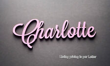 Painted or Raw Custom Wooden Name Sign Plaque Wedding Decor 10 cm.