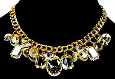 VTG 70'S STYLISH GLITTERING LUCITE DANGLES NECKLACE