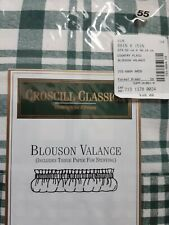 Croscill Valance Blouson Green Plaid Country Farmhouse NEW