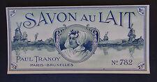 Etiquette savon PAUL TRANNOY n°782 Antique Perfume Soap Label French Paris
