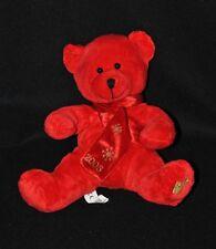 Peluche doudou ours rouge BEAUTY SUCCESS 2005 écharpe flocon neige 20 cm TTBE