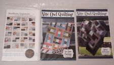 Lot of 3 Brand New Easy Quilt Patterns Northern Exposure, Midnight Reflections +