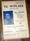 tu m'plais chanson-java réaliste partition chant 1928 Léon Dequin