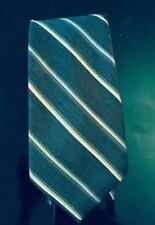 NWT Charles Jourdan Paris Brown with White and Blue Diagonal Stripe Tie 3''