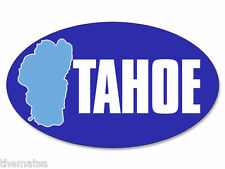 "5"" OVAL TAHOE HELMET CAR TOOLBOX BUMPER DECAL STICKER MADE IN USA"