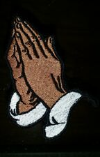PRAYING HANDS MOTORCYCLE BIKER EMBROIDERED VEST PATCH ** PLEASE READ DESCRIPTI**