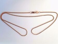 NEW Genuine Authentic Solid 9ct 9k Rose Gold Diamond Cut Curb Ladies Necklaces