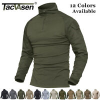 TACVASEN Men Army Military Shirts Airsoft Tactical Combat Shirt Pullover T-Shirt