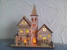 Leuchthaus Winterhaus Weihnachtsdorf mit LED-Beleuchtung aus Holz Nr.1001