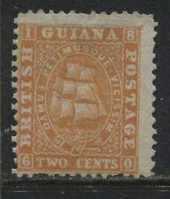 British Guiana 1862 2 cents orange unused no gum