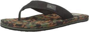 O'Neill Boys Flip Flops sandals sz 2/3 Phluff Daddy Camo