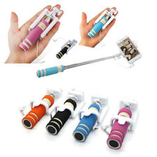 Mini Selfie Stick Monopod Wired Foldable Remote Mobile Holder For iPhone Samsung