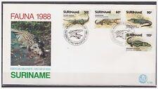 Surinam / Suriname 1988 FDC 120 Krokodil Crododile